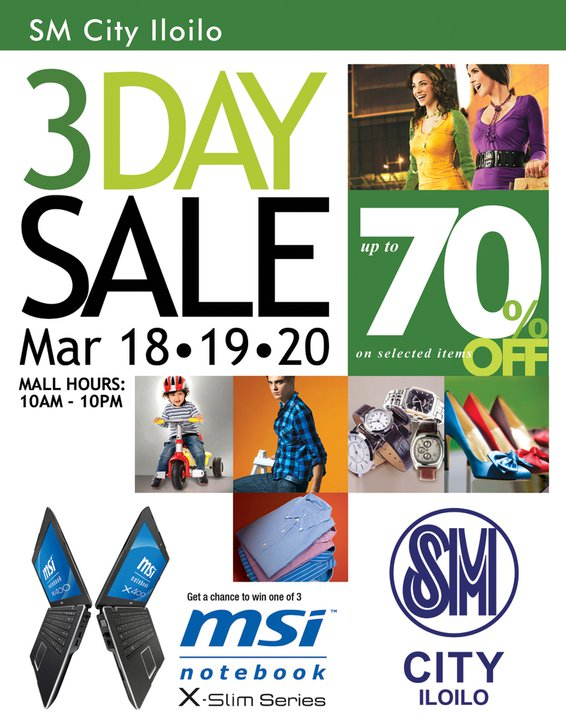 SM 3 Day Sale March 2011